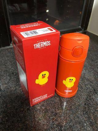 (全新連盒)萬寧Line friends x Thermos 350ml 保溫吸管瓶