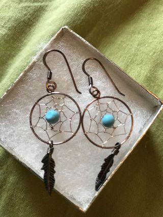 New rustic dream catcher earrings