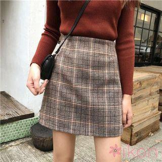 PREORDER Checkered A-line Skirt