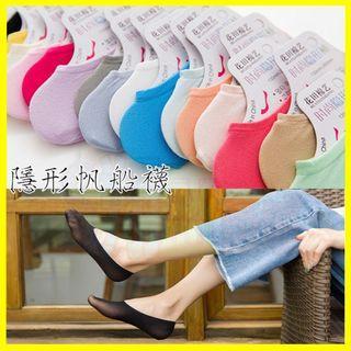 🚚 買5雙送1雙 糖果色天鵝絨超低女性隱形襪/女生吸汗襪子/雷根鞋帆船鞋 豆豆鞋適用 船型 運動襪