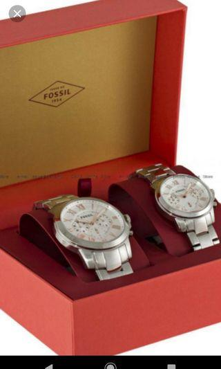 🚚 Couple Fossil watch Monkey year 2016