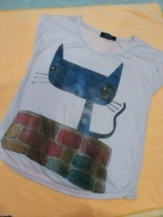 Girl T-shirt #meow