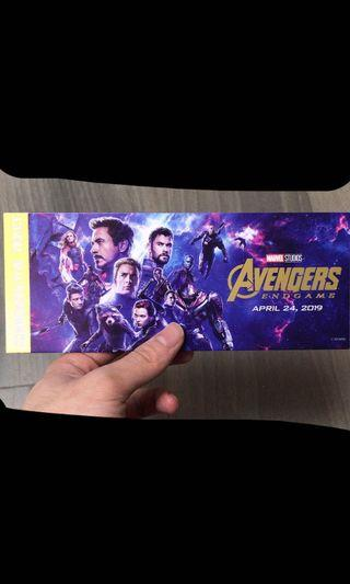 End game Avengers 4 紀念票