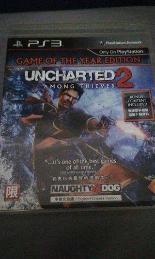 UNCHARTED 2 PlayStation3 PS3 Game