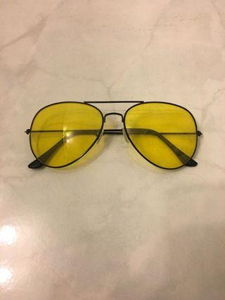 Urban Outfitters Yellow Aviator Sunglasses