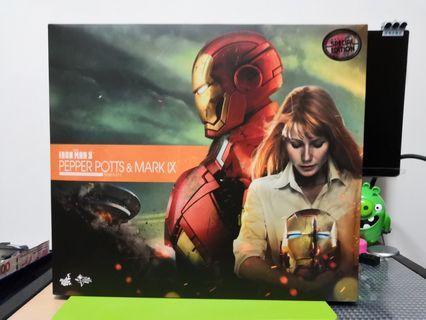 全新 Ironman Mark IX HOTTOYS MARK9 罕有拆售 ( 已抽起 Pepper 及 其配件 )