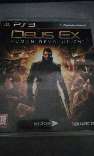 DEUS EX Human Revolution PlayStation3 PS3 Game