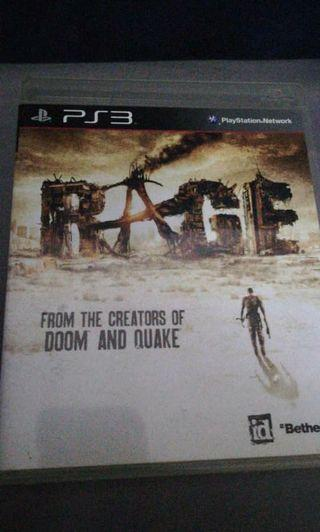 RAGE PlayStation3 PS3 Game