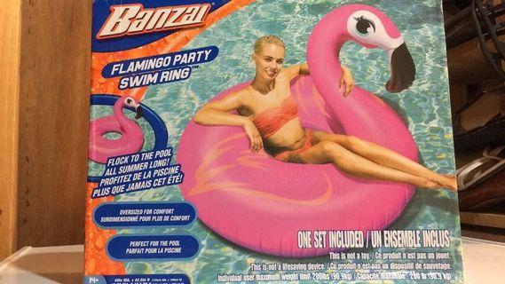 BNIB Large Flamingo Pool Float