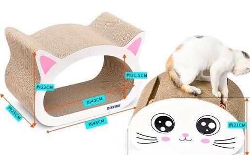 🐈貓頭抓板2件裝、