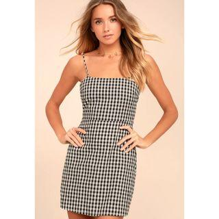 Gingham Mini Dress #SwapCA