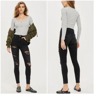 Moto Ripped Jamie Jeans (Size 3) #topshop