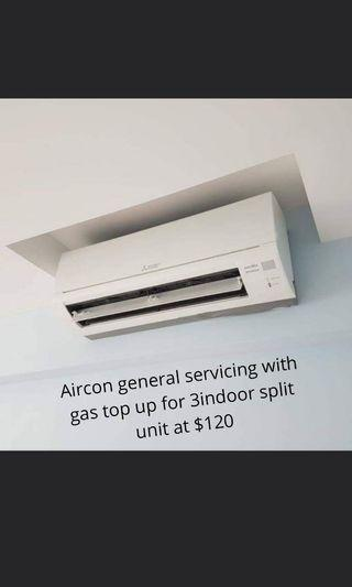 Aircon Servicing Package for 3units