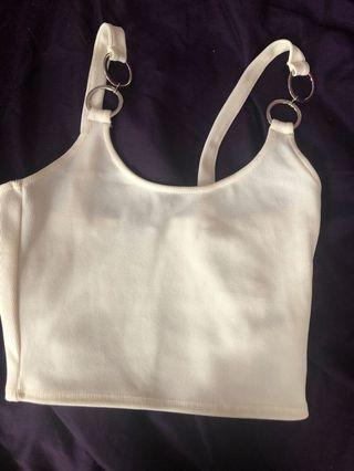 Top shop White crop top