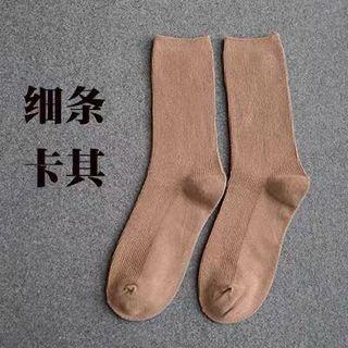 幼間長襪三對(卡其綠色薑黃)