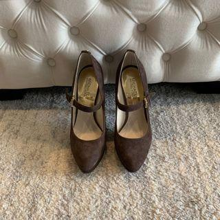 NEW! Michael Kors - Brown Suede Heels Shoes - Size 8