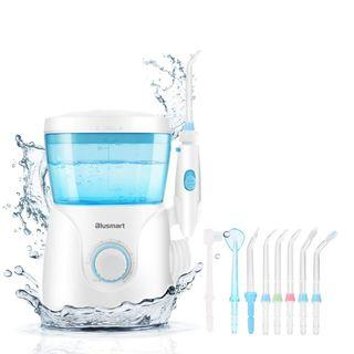 (2588) Blusmart Water Flosser for Teeth Countertop Dental Water Flossers 600ml Power Flossing Oral Irrigator 10 Pressure Settings for Family Use, 8 Multifunctional Jet Tips 30-125psi