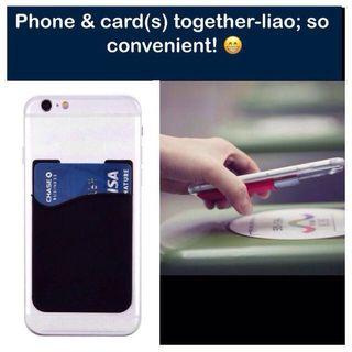 Silicone Cardholder for Handphone ( handphone / mobile phone card holder pouch; practical gifts) [uncle anthony uac] FOLLOW THIS LINK B4 U CHAT TO ORDER: 👉 http://carousell.com/p/119403435