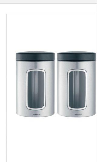 Kitchen Brabantia Canisters Container Tin Storage Coffee