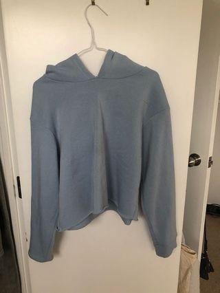 Baby blue crop hoodie