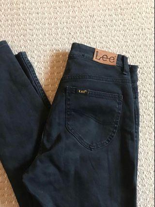 LEE 'lola' high waisted black skinny jeans