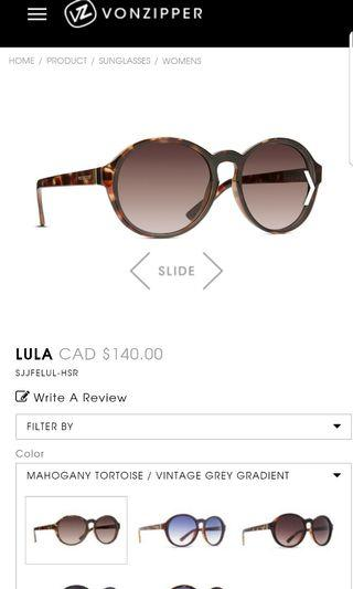 Von zipper sunglasses Lula