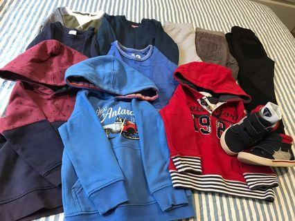 Size 3 Boys Clothes Bundle with Shoe