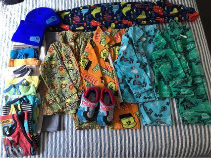Size 3 Boys Kids Pajama Clothes Bundle