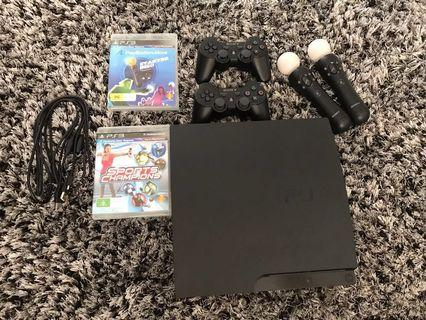 PS3 with Accessories and Games