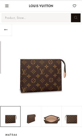 Authentic LV Louis Vuitton Toiletry Cosmetic Clutch Pouch 19