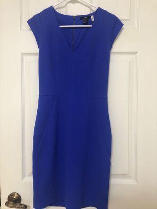 H&M royal blue dress size 4