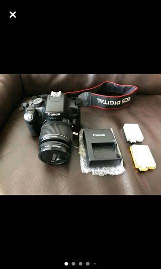 CANON 450D + Kit lens+ original packaging of lens