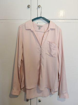 Calvin Klein blush pink blouse work top #swapAU