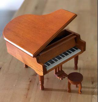木製三角琴音樂盒