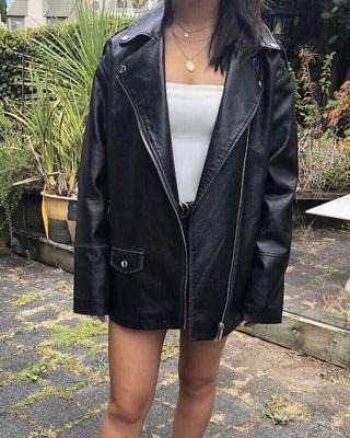 ASOS oversize leather jacket