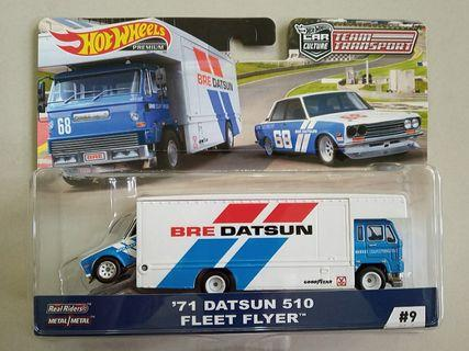Hot Wheels 2019 Team Transport Wave C '71 Datsun 510 Fleet Flyer