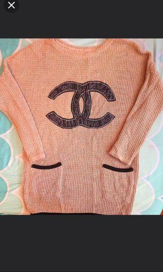Chanel style oversized sweater