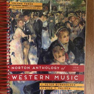 Northon anthology western music, 7th edition