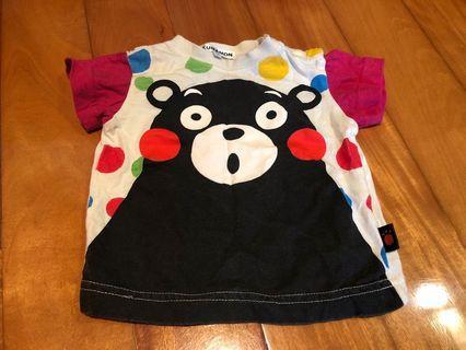 日本 Kumamon / 熊本熊 小朋友 / 小童 / 童裝 Tee / T-shirt / T恤 size 80cm