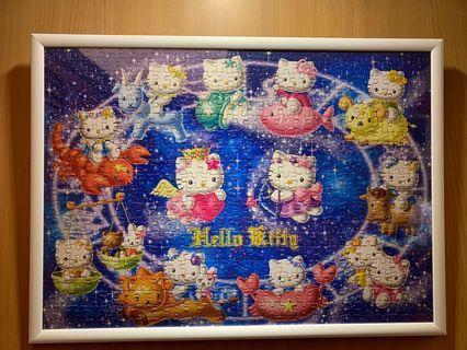 Hello Kitty500片拼圖 Hello Kitty拼圖 拼圖掛畫  掛畫 拼圖