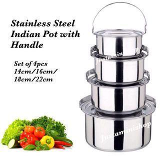 Indian Pot - Set of 4pcs set #EndgameYourExcess