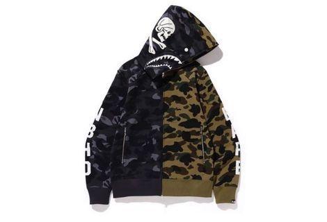 Bape x Nbhd Hk Exclusive Full Zip Shark Hoodie