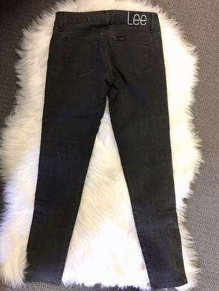 Lee low rise jeans with zip details