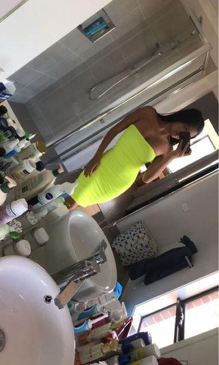 Tigermist neon yellow dress
