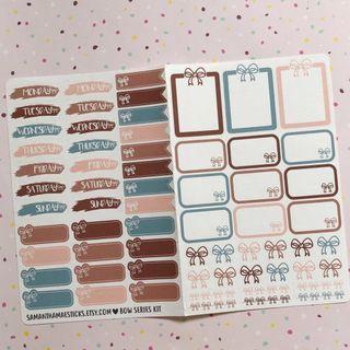 Bow Planner Sticker Kit
