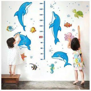 Wallsticker pengukur tinggi badan anak
