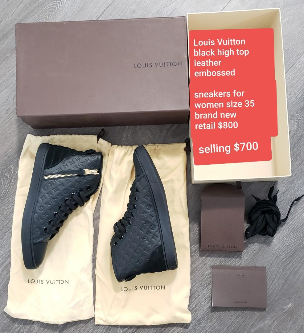 100% authentic Louis Vuitton high top sneakers