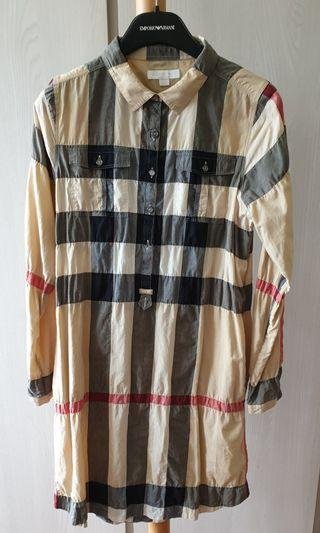Burberry Crinkled Dress Size 14Y
