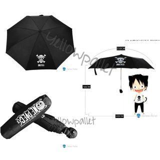 One piece umbrella with skull handle
