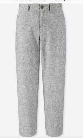 (Reduced!) Uniqlo linen cotton relaxed pants